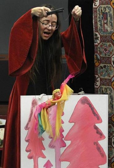uppeteer Charlotte Anne Dore, of Rosalita's Puppets, performed at the Wesley Child Care Center, Inc.