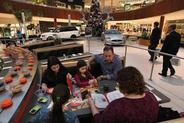 Steven and Denise McKenna of Stow dined with their children, Delaney, Reilly, and Kiernan, at Wasabi, at the Natick Mall.