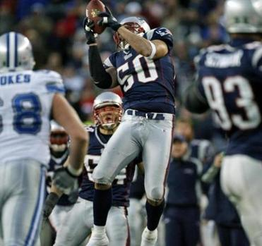 This interception by Mike Vrabel, his second of the game, sealed the win.