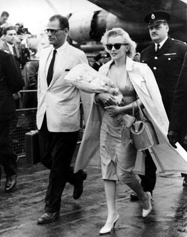 Arthur Miller with Marilyn Monroe in 1956. The FBI was also watching the playwright and other celebrities.