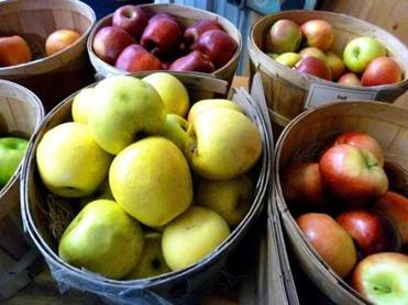 Hilltop Orchards had a limited selection of fresh apples remaining from the 2012 harvest.