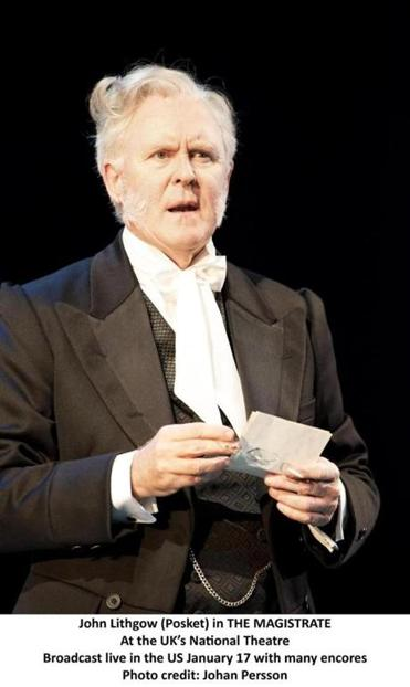 "John Lithgow (seen in ""The Magistrate"" with the National Theatre) says that British audiences are reserved but smart. ""You get the feeling you're performing for people who go to the theater 20 times a year on average,"" he said."