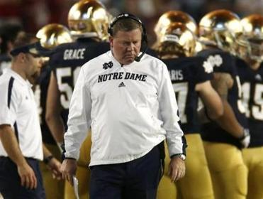 Brian Kelly had little to celebrate on the Notre Dame sideline.