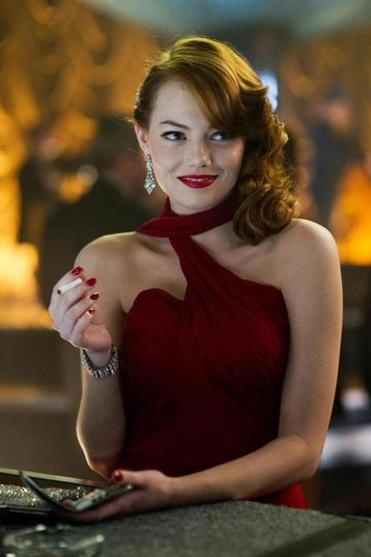 "Emma Stone plays a gangster's moll in ""Gangster Squad."""