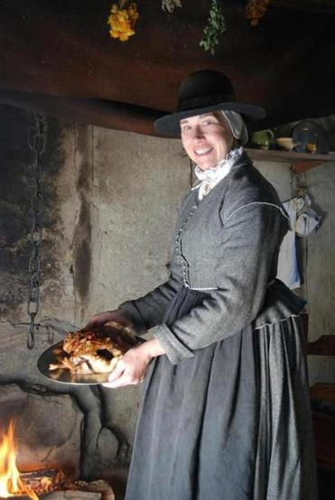 Kathleen Wall has been working in costume at Plimoth Plantation since 1980.