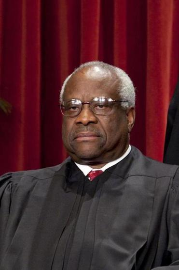 Justice Clarence Thomas spoke publically in court for the first time since Feb. 22, 2006.