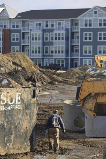 Construction was underway last month on SouthField, which could comprise as many as 2,855 homes when done.