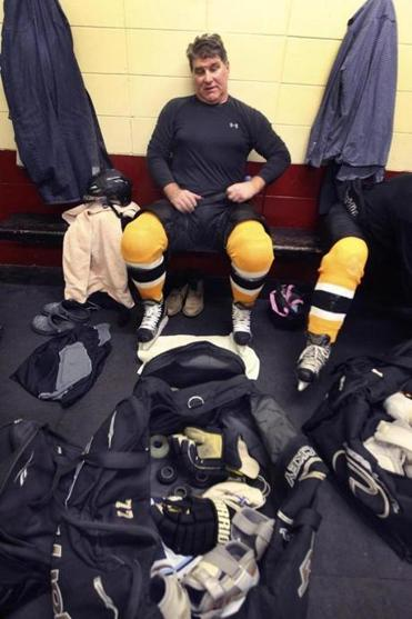 Bruin great Ray Bourque always aired out his bag as a kid — and he still does after informal skates at Hockey Town.