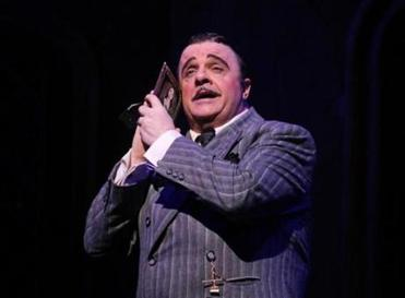 "Nathan Lane as Gomez in the musical ""The Addams Family."""