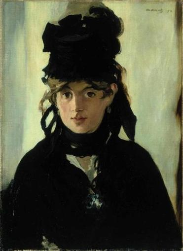 "Edouard Manet's portrait ""Berthe Morisot With a Bouquet of Violets."""
