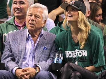 Robert Kraft and Ricki Noel Lander.