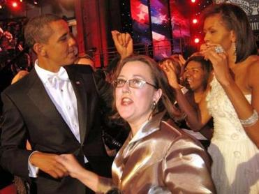 Kirsten Meehan danced with President Obama at a 2009 inaugural ball.