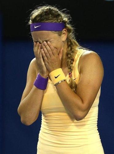 The water works began soon after Victoria Azarenka defended her Australian Open title in three sets.