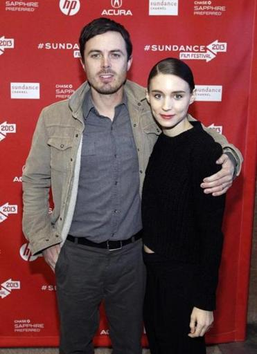 "Casey Affleck and Rooney Mara at the premiere of ""Ain't Them Bodies Saints"" at Sundance."