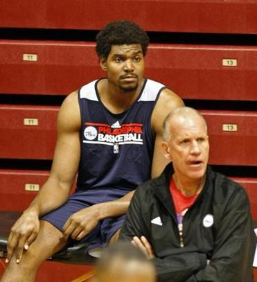 Andrew Bynum has not been able to play yet this season for the 76ers.