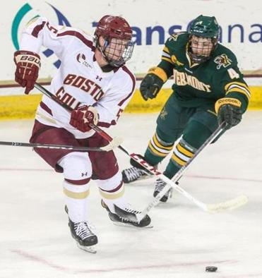 BC freshman defenseman Michael Matheson is fitting in well to the college game.