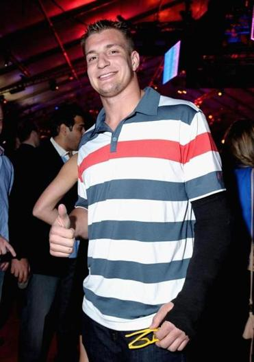 Gronkowski attended an ESPN event in New Orleans, last week.
