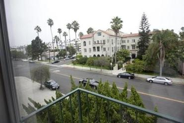 The view from the fugitive couple's Santa Monica balcony, where Whitey would often survey the neighborhood with binoculars.