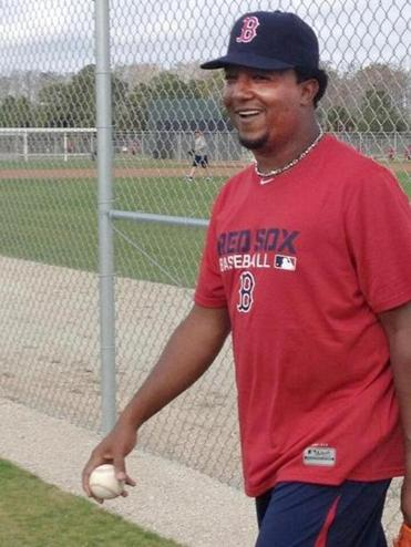 Pedro Martinez was back in Red Sox gear on Friday, but this time only to offer advice as a special assistant.