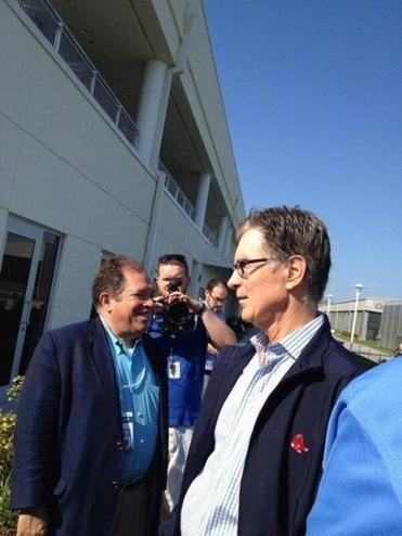 Red Sox owner John Henry met with reporters on Monday.