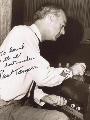 Paul Tanner at his Electro-Theremin in the late 1960s.