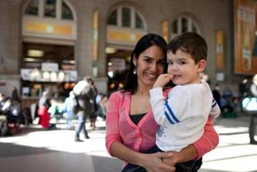 Gilda Fortier, 36, of Bellingham, and her 2-year-old son, Isaac.