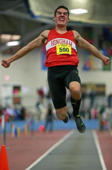 Hingham was flying high thanks in part to Andrew Bolze, who finished second in the long jump.