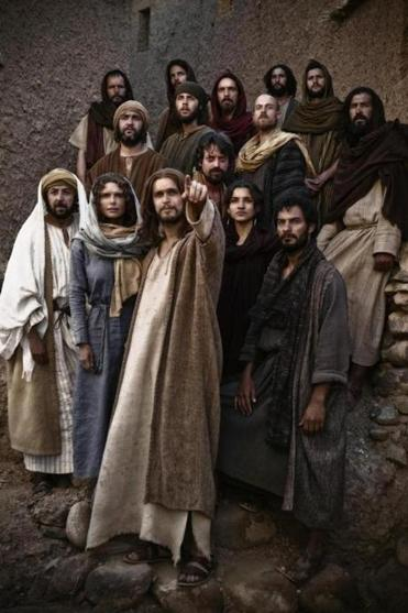 "Diogo Morgado (center) stars as Jesus in the History Channel's miniseries ""The Bible."""