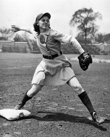 Mostly a second-baseman, Sophie Kurys stole 201 bases during the 1946 season while playing for the Racine Belles.