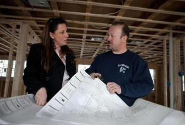 Anna Wallace (with builder Angelos Maradianos) founded Homes by Anna after her kids had grown.