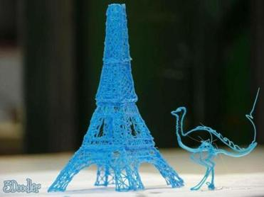 The 3Doodler spits out plastic that can be molded into shapes, allowing users to make creations in the air.