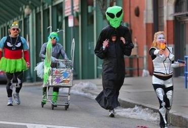 A sci-fi themed group of participants headed down Lansdowne Street last year.