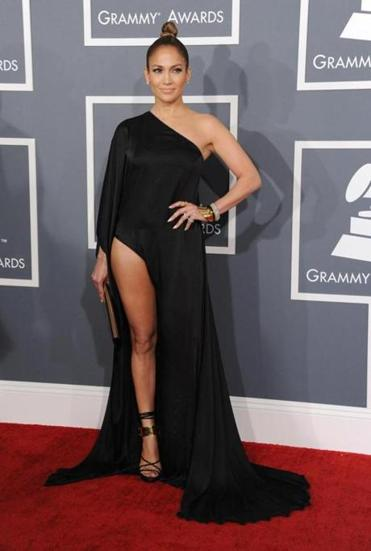 Jennifer Lopez arrived at the 55th annual Grammy Award.