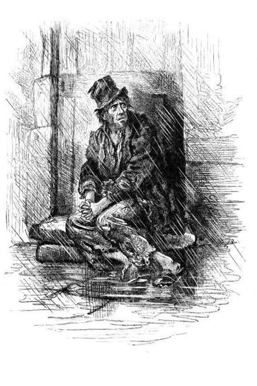 19th Century Illustration from a Dickens Sketch.