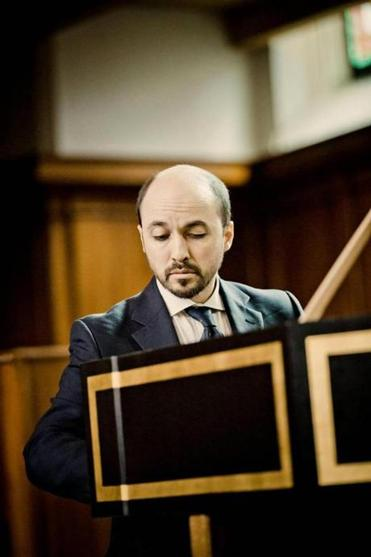 Luca Guglielmi performed Bach pieces on harpsichord and organ Saturday.