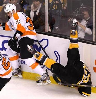 This Zac Rinaldo hit on Johnny Boychuk didn't go unpunished.