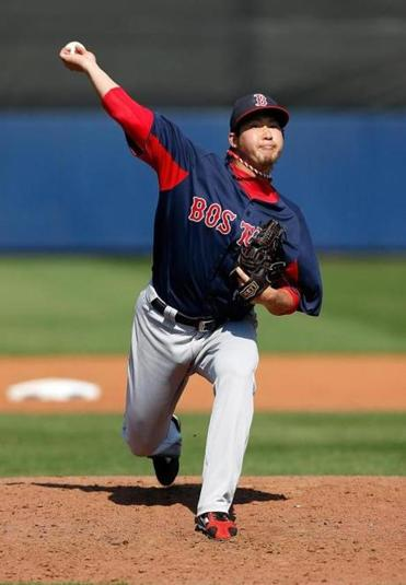 Junichi Tazawa pitched a perfect eighth inning to help the Red Sox beat the Rays, 6-2, in Port Charlotte, Fla.