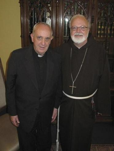 Then-Cardinal Jorge Bergoglio, now Pope Francis, (left) met with Cardinal Sean O'Malley in 2010.