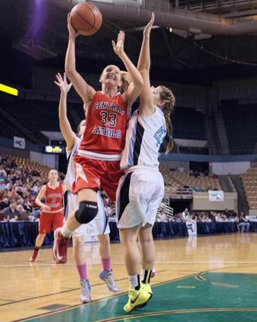 Casey McLaughlin drove hard toward the basket, and a Central Catholic title.