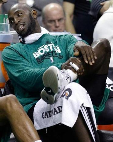 Danny Ainge said the ankle inflammation of Kevin Garnett (above) is not season-ending, and a rest won't hurt him.