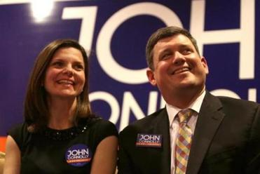 Meg and John Connolly were introduced Wednesday to supporters at the Omni Parker House hotel.