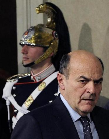 Pier Luigi Bersani attended a press briefing after a meeting with Italian President Giorgio Napolitano.