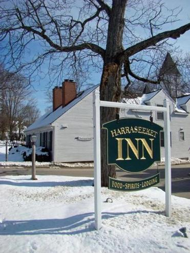 Harraseeket Inn guests can walk home from the L.L. Bean complex in Freeport to relax in the indoor pool or the pub