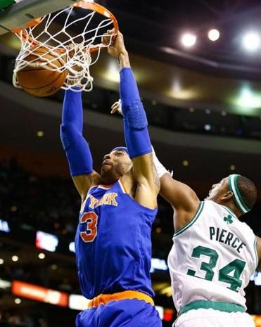 Kenyon Martin scored 9 points and grabbed five rebounds in the Knicks' 100-85 win over the Celtics.