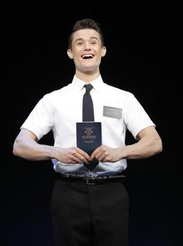 "Mark Evans stars in ""The Book of Mormon"" at the Boston Opera House."