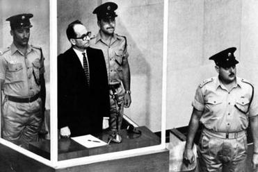 Adolf Eichmann in a Jerusalem courtroom in Michael Prazan's documentary about the landmark broadcast trial.