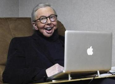 Roger Ebert worked in his office in 2011.)