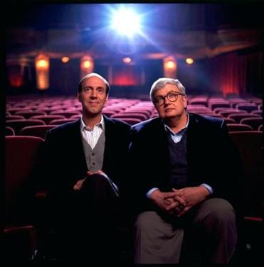 "Gene Siskel (left) and Roger Ebert trademarked the ""two thumbs up"" phrase. Siskel (left) died in 1999."