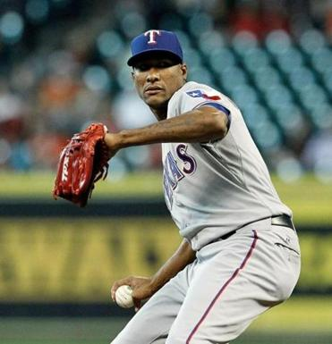 The Rangers' Alexi Ogando followed Yu Darvish's one-hitter Tuesday by allowing four hits with 10 strikeouts in 6⅓ innings.