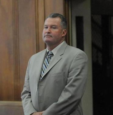 Former Massachusetts Probation Department head John J. O'Brien in Suffolk Superior Court on April 5.